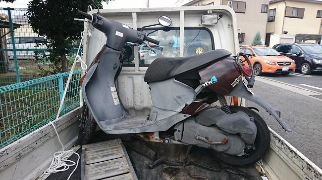小田原市バイク処分 レッツ4